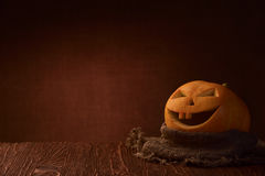 Scary halloween pumpkin jack-o-lantern Royalty Free Stock Image