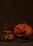 Scary halloween pumpkin jack-o-lantern Royalty Free Stock Image