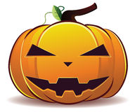 Scary Halloween pumpkin Stock Image