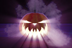 Scary Halloween Pumpkin Royalty Free Stock Photography