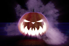 Scary Halloween Pumpkin Royalty Free Stock Images