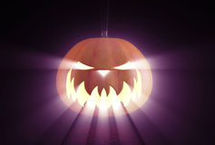 Scary Halloween Pumpkin Royalty Free Stock Photo