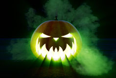 Scary Halloween Pumpkin Stock Photo