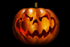 Scary Halloween pumpkin resembling a Chinese dragon head, isolat Stock Photos
