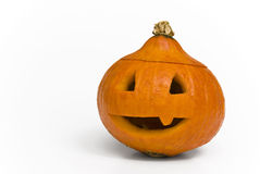 Scary halloween pumpkinhead. Scary pumpkin head for halloween royalty free stock image