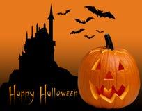 Scary Halloween pumpkins. Scary Halloween ghost pumpkins background Stock Photos
