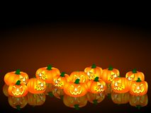 Scary halloween pumpkins Stock Images