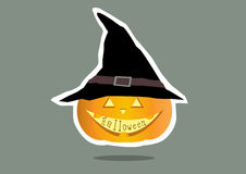 Scary Halloween pumpkins cards,  illustrations Royalty Free Stock Photography