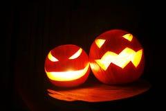 Scary halloween pumpkins Royalty Free Stock Photo