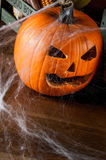 Scary halloween pumpkins, halloween theme Stock Image