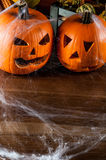 Scary halloween pumpkins, halloween theme Royalty Free Stock Images