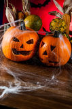 Scary halloween pumpkins, halloween theme Stock Photos