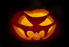 Scary halloween pumpkins jack-o-lantern Stock Photos