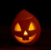 Scary halloween pumpkins jack-o-lantern Stock Photography