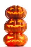Scary halloween pumpkins Jack O Lanterns Royalty Free Stock Image