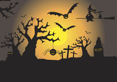 Scary halloween scene  Royalty Free Stock Photo