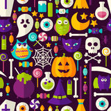 Scary Halloween Seamless Background Royalty Free Stock Images