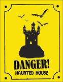 Scary Halloween sign. A scary Halloween sign illustration Royalty Free Stock Photography