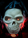 Scary Halloween skull bones Stock Image