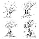Scary Halloween tree Royalty Free Stock Images