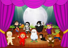 A scary hallowen costume collections vector illustration