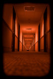 Scary Hallway. Photo effect to create a scary hallway in a motel Stock Photo