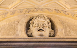 Scary Head Over Vatican Door Royalty Free Stock Photography
