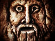 Scary Historical Ancient Marble Face Stock Images