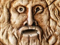 Scary Historical Ancient Marble Face Stock Image