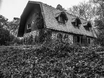 The Scary Home in The Wood. The Scary Home in The Wood at evening Royalty Free Stock Photography