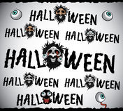 Scary horror halloween design text Stock Images