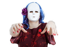 Scary horror masked woman Stock Photo