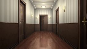 Scary hotel hallway Royalty Free Stock Images