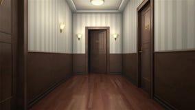 Scary hotel hallway