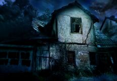 Scary house. Scary old house in the night vector illustration