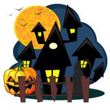 Scary house of Halloween Royalty Free Stock Image