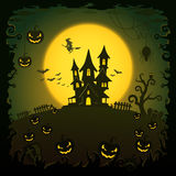 Scary house, Halloween background Royalty Free Stock Image