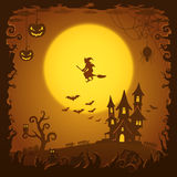 Scary house, Halloween background Royalty Free Stock Photos