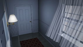 Scary house hallway