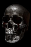 Scary human skull side view, blood tears Royalty Free Stock Photography