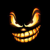 Scary Jack O Lantern stock illustration