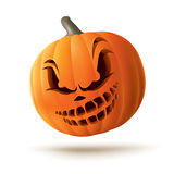 Scary Jack O Lantern. Floating on air Royalty Free Stock Image