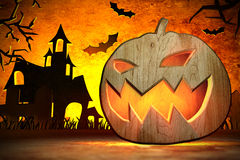 Scary Jack O Lantern Royalty Free Stock Photography