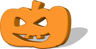 Scary Jack O'Lantern 3D. Royalty Free Stock Photos