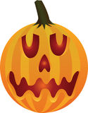 Scary Jack O Lantern. Illustration of a scary jack o lantern pumpkin with face and internal light Royalty Free Stock Image