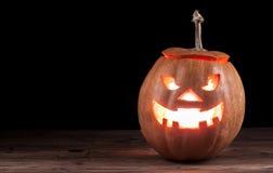 Scary jack-o-lantern Stock Photo