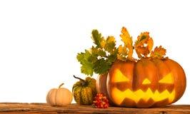 Scary jack o lantern halloween background Stock Photography