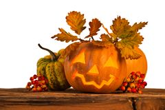 Scary jack o lantern halloween background Royalty Free Stock Photography