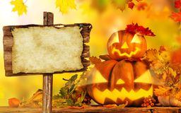 Scary jack o lantern halloween background Royalty Free Stock Photo