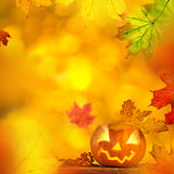 Scary jack o lantern halloween background Stock Photography